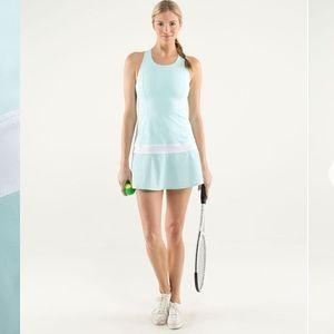Lululemon Hot Hitter Dress Aquamarine White